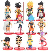 Dragon Ball King Vegeta Gotenks Broli Action Figures Super Saiya 3 God SS Son Goku Frieza Bulma Model Dolls Kids Toys for Boys