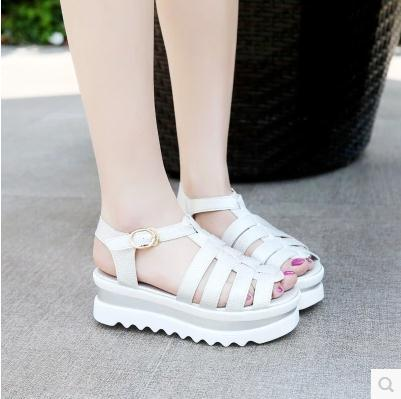 2a2cf47ccf 2015 New summer European American women student Gladiator platform sandals  flat peep toes platform flat fashion shoes-in Women's Sandals from Shoes on  ...