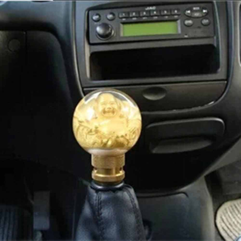 Laughing Buddha Resin Car Gear Shift Knob Shifter Lever Universal Fit For Automatic Manual Transmission Gear Shift Knob