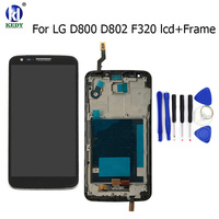 LCD Display Touch Screen Digitizer With Bezel Frame For LG G2 D800 D801 D803 D802 D805