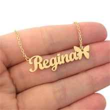 Customized Name Necklace Bijoux Femme Personalized Silver Gold Choker Women Men BFF Jewelry