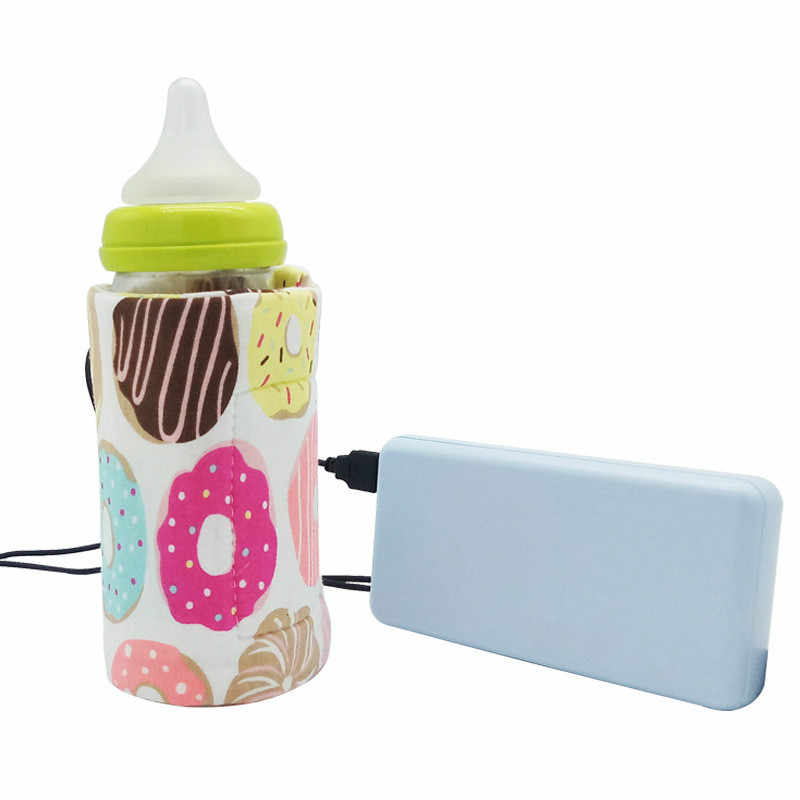 USB Milk Water Warmer Travel Stroller Insulated Bag Baby Nursing Bottle Heater Dinosaur Rainbow Baby Bottle Warmer Warmers Hot