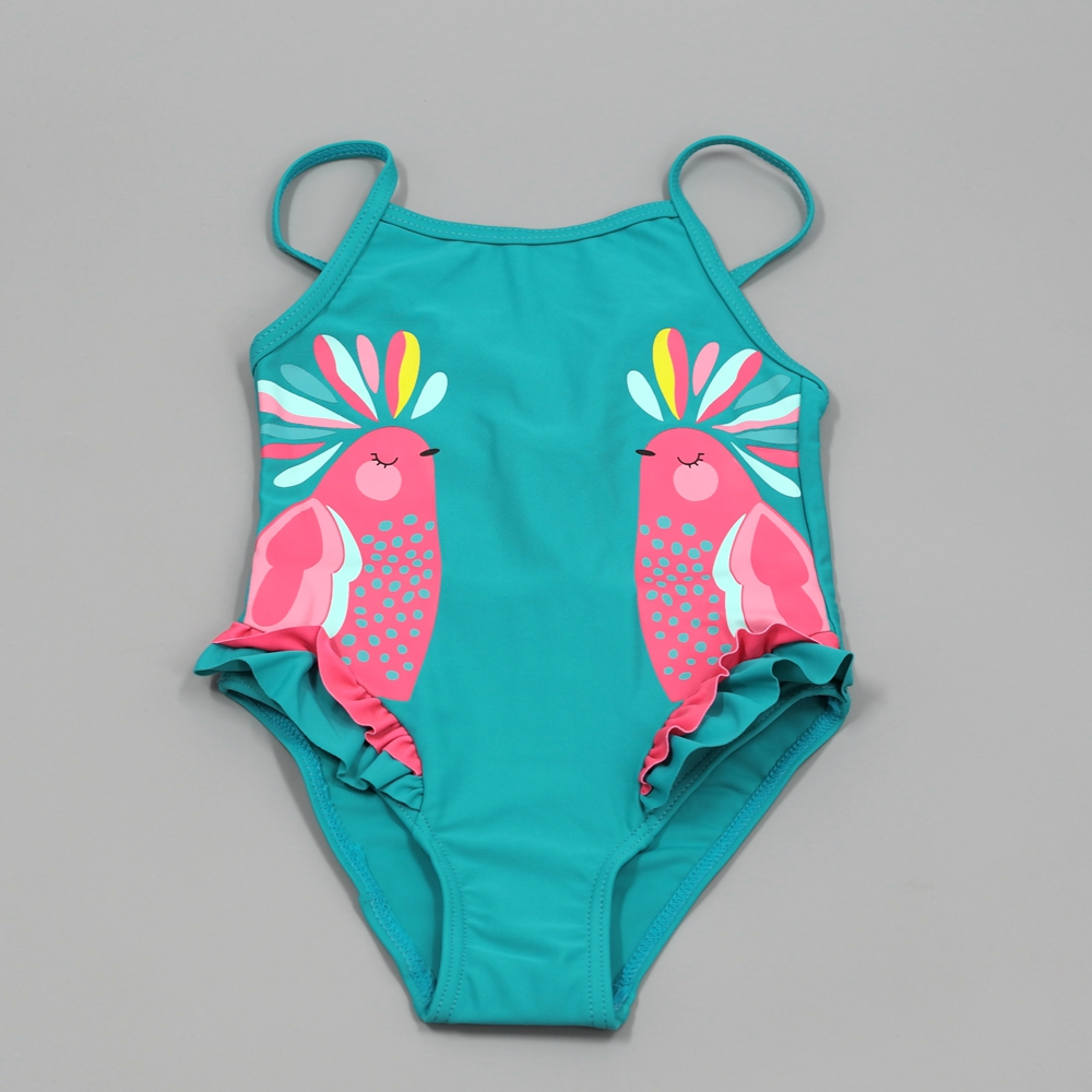 2-10T Chumhey Baby Girls Swimsuit Summer Bebe one piece swimwear infant bathing suit beachwear Swimming suit Swan Bath Suit