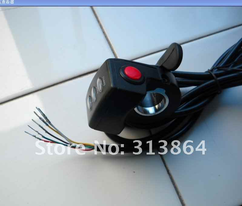 High quality 36V Thumb Throttle for 36V E-bike Conversion Kit with battery indicator&on/off switch Wuxing Brand