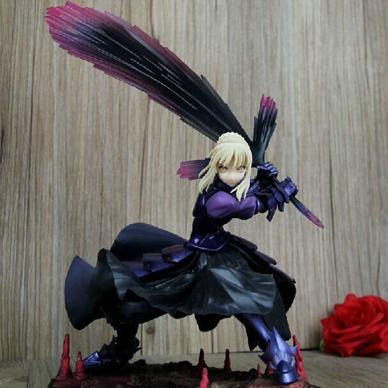 Hot Fate/Stay Night Zero Saber Mask Hammer Fate Stay Night PVC Doll Action Figure Model Toys With Box Free Shipping fate stay night fate extra red saber pvc figure toy anime collection new