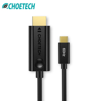 CHOETECH USB C to HDMI 4K Cable Adapter 60Hz 6Ft USB Type C to HDMI 1080p For 2017 2018 MacBook Pro Samsung Galaxy S9 For Huawei