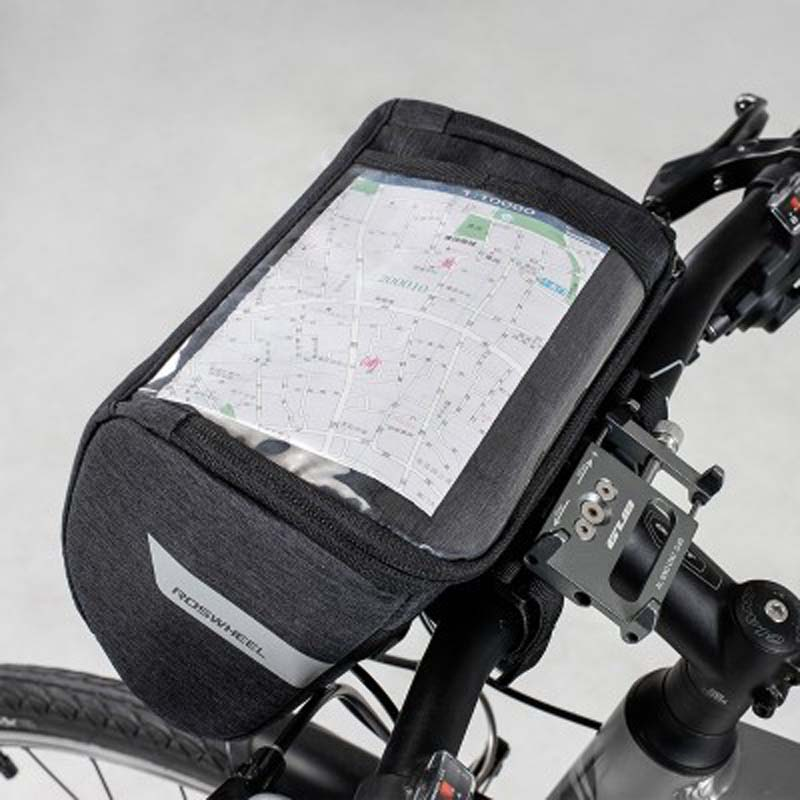 300D Nylon Bicycle Bag Waterproof Mountain Road Touchscreen Cycling Bike Bicycle Handlebar Bag Map Mobile Phone Front Bags in Bicycle Bags Panniers from Sports Entertainment