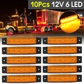 10 piezas de Color 5 a 12 V/24 V 6 LED COCHE camión de remolque camión lado marcador luz indicador de luz lado lámpara ámbar/rojo/Verde/azul/blanco