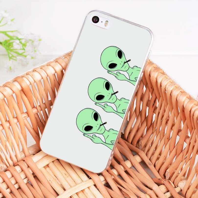 MaiYaCa aliens we heart soft tpu สำหรับ iphone ของ Apple iphone 8 7 6 6S Plus X 5 5S SE 5C 4 4S