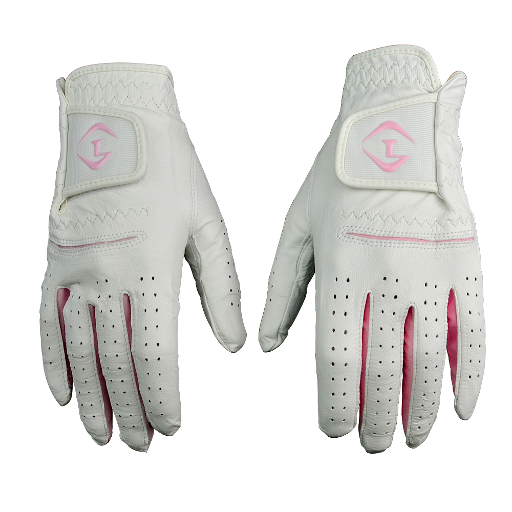 Mens golf gloves xxl - 2016 Top Quality Women Genuine Sheep Leather Golf Sports Gloves Ladies Durable Quick Dry Pink Color
