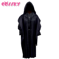 Kids Robe Star Wars Darth Maul Jedi Cosplay Costume Black Tunic Cloak Halloween Outfit For Kid