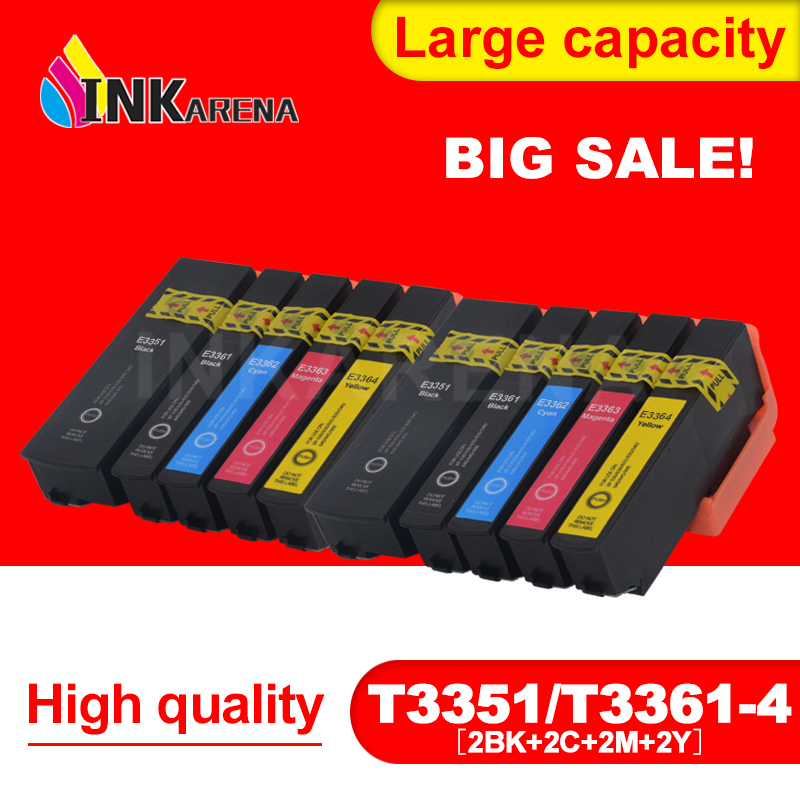 33XL Compatible ink Cartridge for Epson XP530 XP630 XP830 XP635 XP540 XP640 XP645 XP900 Printer Cartridges T3351 T3361 - T336433XL Compatible ink Cartridge for Epson XP530 XP630 XP830 XP635 XP540 XP640 XP645 XP900 Printer Cartridges T3351 T3361 - T3364