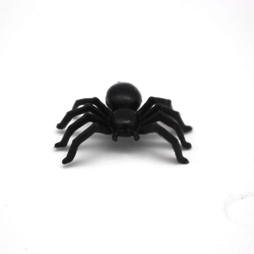 50 Pcs Baru Fashion Plastik Hitam Spider Mainan Trik Halloween Haunted House Prop Dekorasi Natal Hari Anak Hadiah