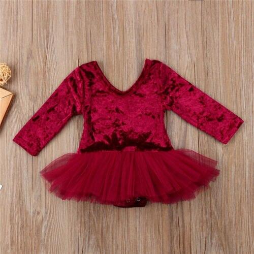 Princesa bebê recém-nascido da menina do verão roupas de natal de veludo rendas tule tutu vestido festa vestidos de casamento vestidos roupas
