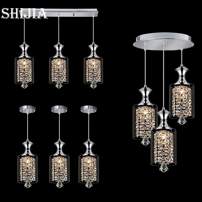 Modern LED Creative Crystal Pendant Light for Restaurant Bar Living room Dining room,Bedroom Hanging Pendant Lamp modern crystal chandelier led hanging lighting european style glass chandeliers light for living dining room restaurant decor