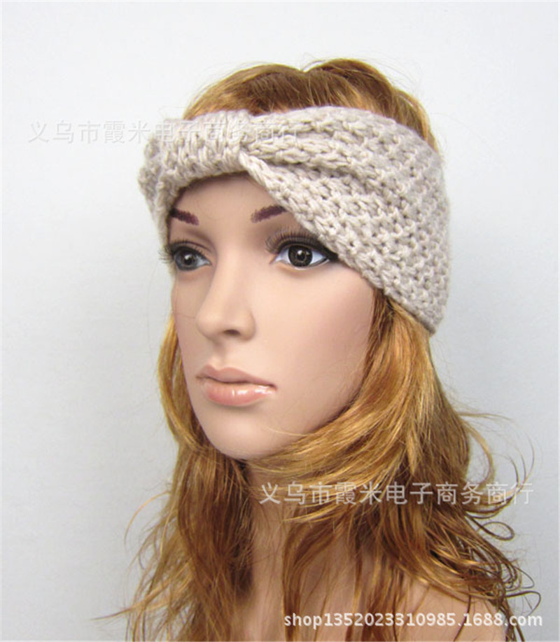 winter crochet knitted headbands for hair band turban