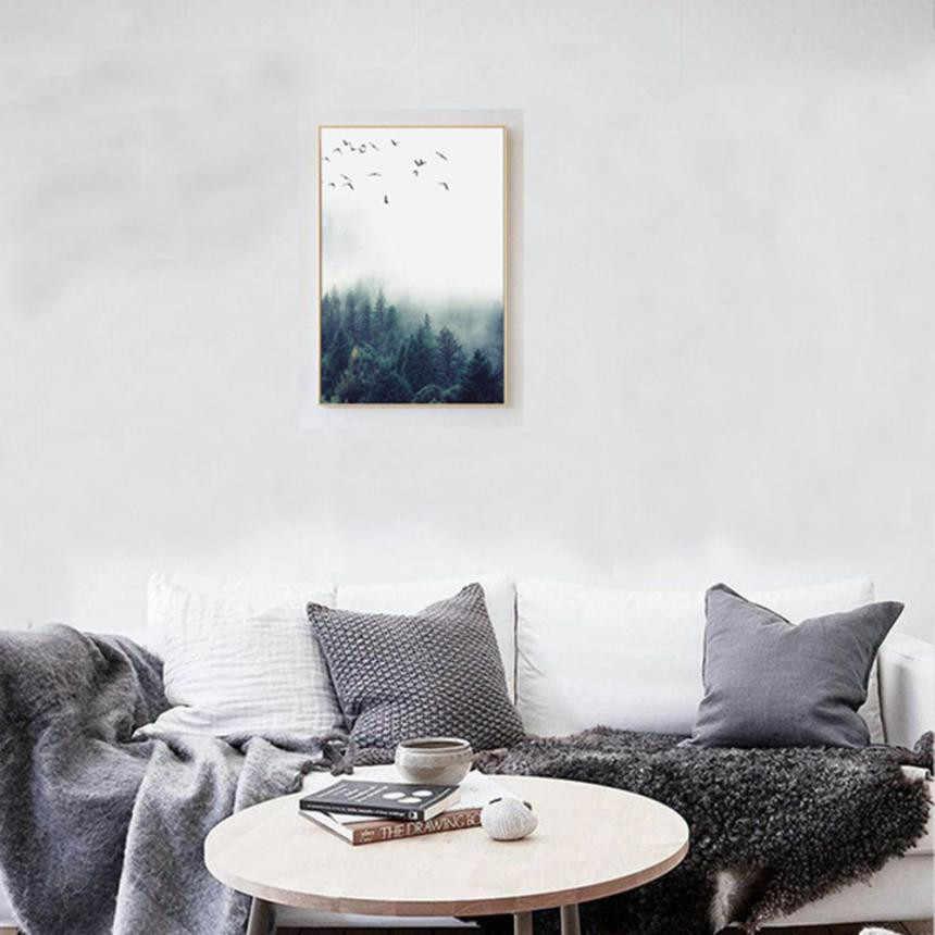 الشمال الديكور الغابات Lanscape جدار الفن قماش المشارك و طباعة قماش اللوحة الزخرفية صورة لغرفة المعيشة ديكور المنزل
