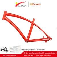 2018 700C Steel Bicycle Frame MTB Road Bike Frame Mountain Bike Aluminum Framework Fixed Gear bike fram aluminum frame fork