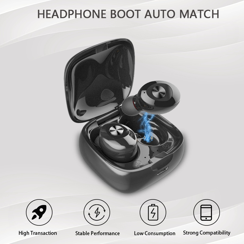 XG12 Wireless <font><b>Bluetooth</b></font> Earphones <font><b>TWS</b></font> <font><b>Bluetooth</b></font> 5.0 Stereo Wireless Earbuds Hifi Sound Sport Handsfree Gaming Headset For Phone image