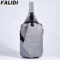 KALIDI Unisex Functional Multilayer Bag Cool Casual Chest Bag Pack Laptop Tablet Fashion Shoulder Bags For