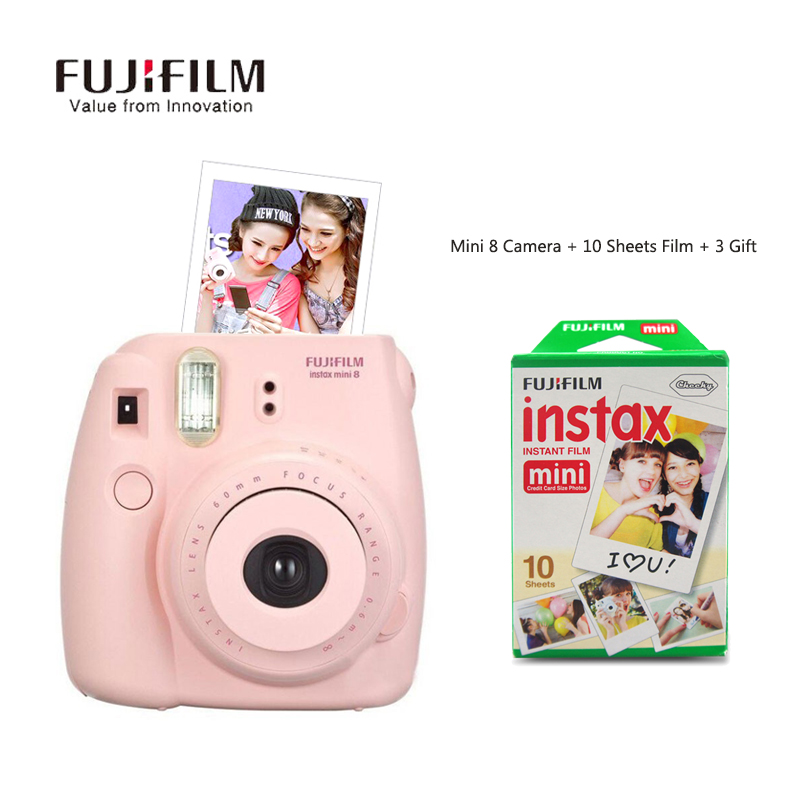 Fujifilm Instax Mini 8 Camera Fuji Instant Mimi8 Film Photo Camera white red blue pink 4 Colors Free Shipping Camara Instantanea fujifilm instax mini 8 pink