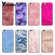 Yinuoda Fur texture Newest Super Cute Phone Cases For iPhone 6plus 6s 7plus 8plus X XS XR Coque Shell(China)