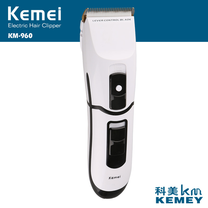 electric hair trimmer new hair styling tools ceramic moving blade adults professional hair clipper  Kemei KM-960 kemei km 173 led adjustable temperature ceramic electric tube hair curler