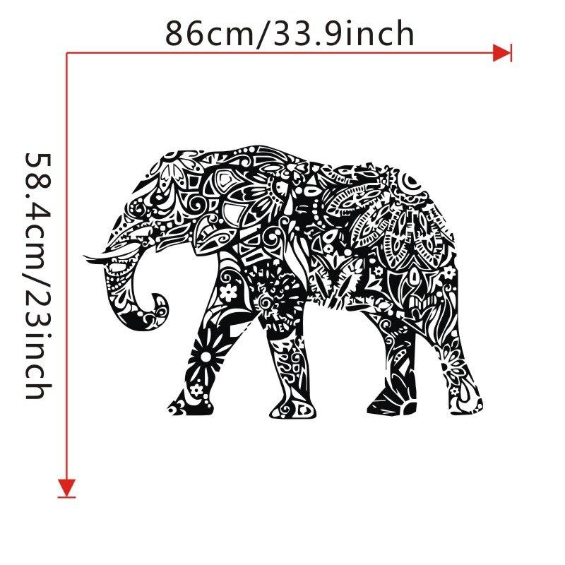 Indischer Elefant Wandaufkleber Mandala Muster Tiere Wandtattoos ...