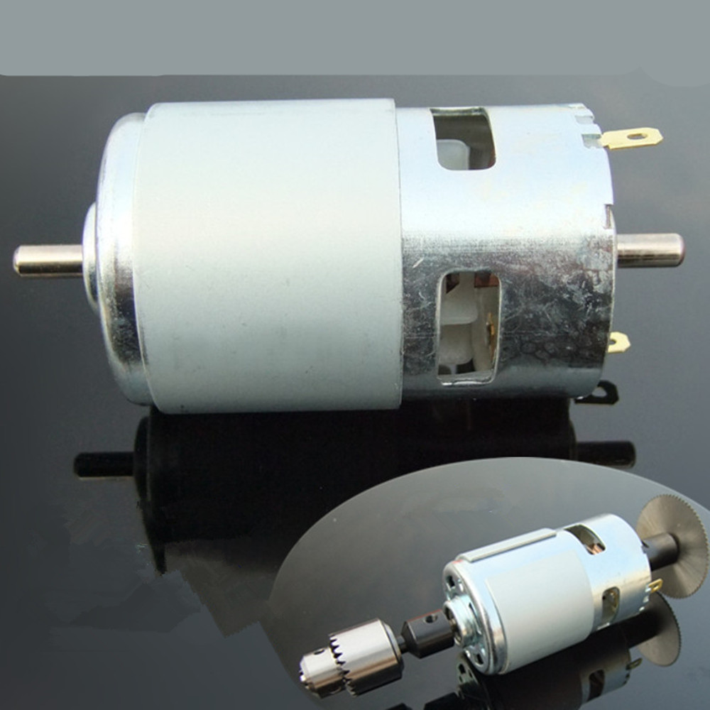 Double Shaft 775 Dc Motor Torque Motor With The Ball