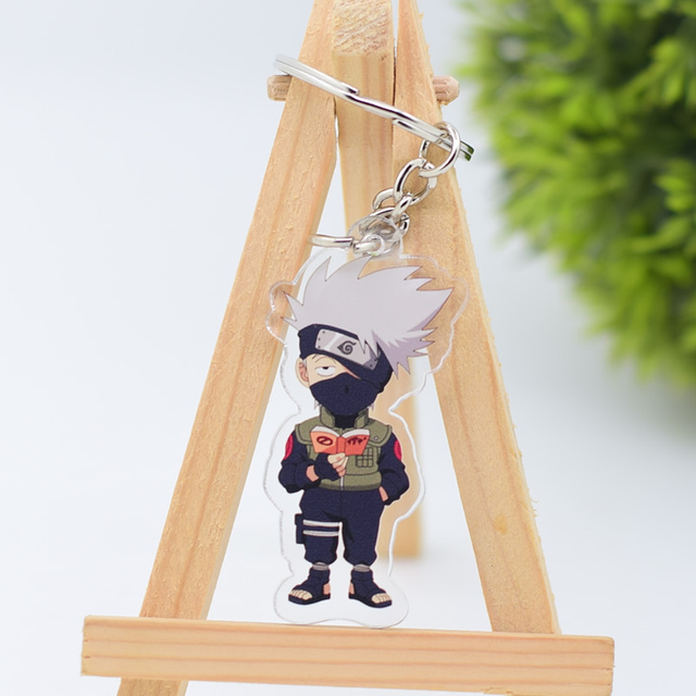 2019 Naruto Keychain Sasuke/itachi/Kakashi Double Sided Acrylic Key Chain Pendant Anime Accessories Cartoon Key Ring 4