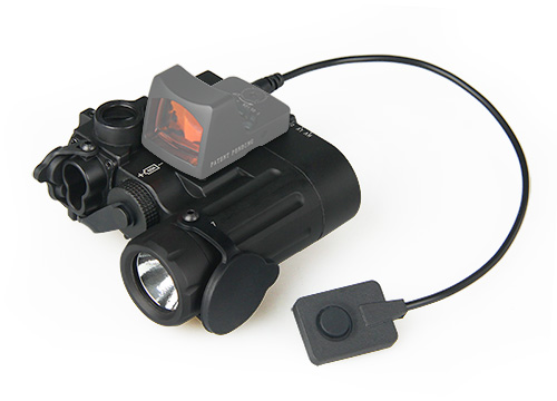 DBAL-D2 Dual Beam Aiming Laser Red w/IR LED Illuminator Class 1 with Red Dot PP15-0088 element ex276 peq15 battery case military high precision red dot laser integrated with led flashlight red laser and ir lens