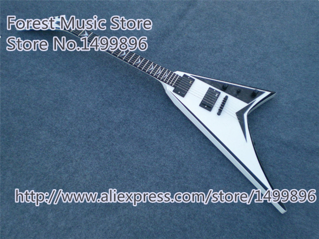 Cheap Hot Selling Chinese White Jackson Electric Guitars Mahogany Body & Neck Guitar Free Shipping