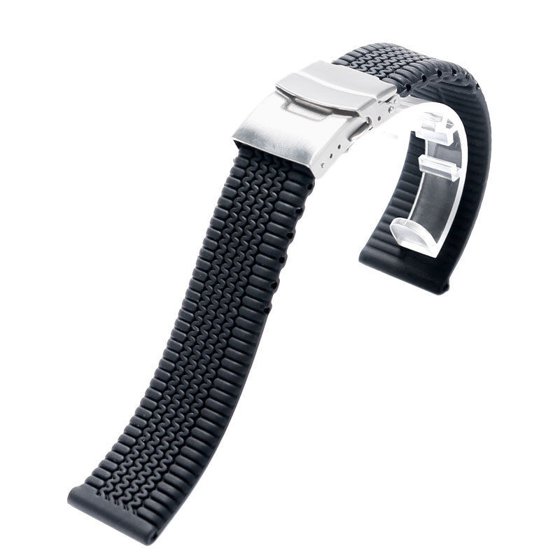 Watches ... Watch Accessories ... 32793220121 ... 5 ... 3Styles Sports Watch Band 20mm 22mm 24mm Soft Silicone Rubber Strap Steel Buckle Bracelet Wrist WatchBand watch accessories ...