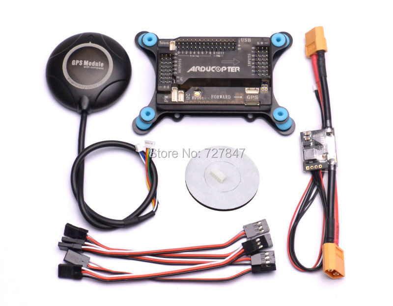 APM2.6 Flight Control Board + APM Shock Absorber + Neo 7M GPS w/ Compass +Power Module+ crius neo gps mag v2 neo 7m gps module with compass for apm pixhawk flight control