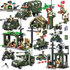 Military Army Cars Planes Helicopter Weapon Educational Building Blocks Toys For Children Gifts Compatible With Legoe