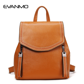 2019 HOT Cow Leather Women Backpack High Quality Genuine Leather Backpacks for Teenage Girls Female Shoulder Travel Bag