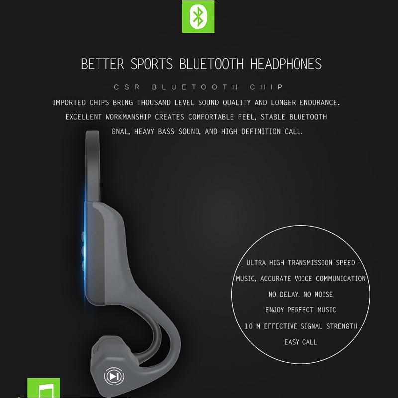 891a1865a4d V8 Wireless Bluetooth Bone Conduction Earphone Headset Sport Running  Headphone Running Earphone for iPhone Android IOS-in Bluetooth Earphones &  Headphones ...