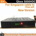 2017 mais recente caixa de tv cingapura starhub caixa preta hd canal de tv Qbox 5000HDC de blackbox chnls c801hd relógio livre + wifi dongle