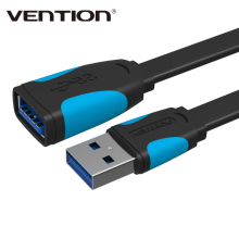 Black & White Vention High Speed USB 3.0 Extension Cable USB 3.0 Male To Female Extension Data Sync Cord Cable Adapter