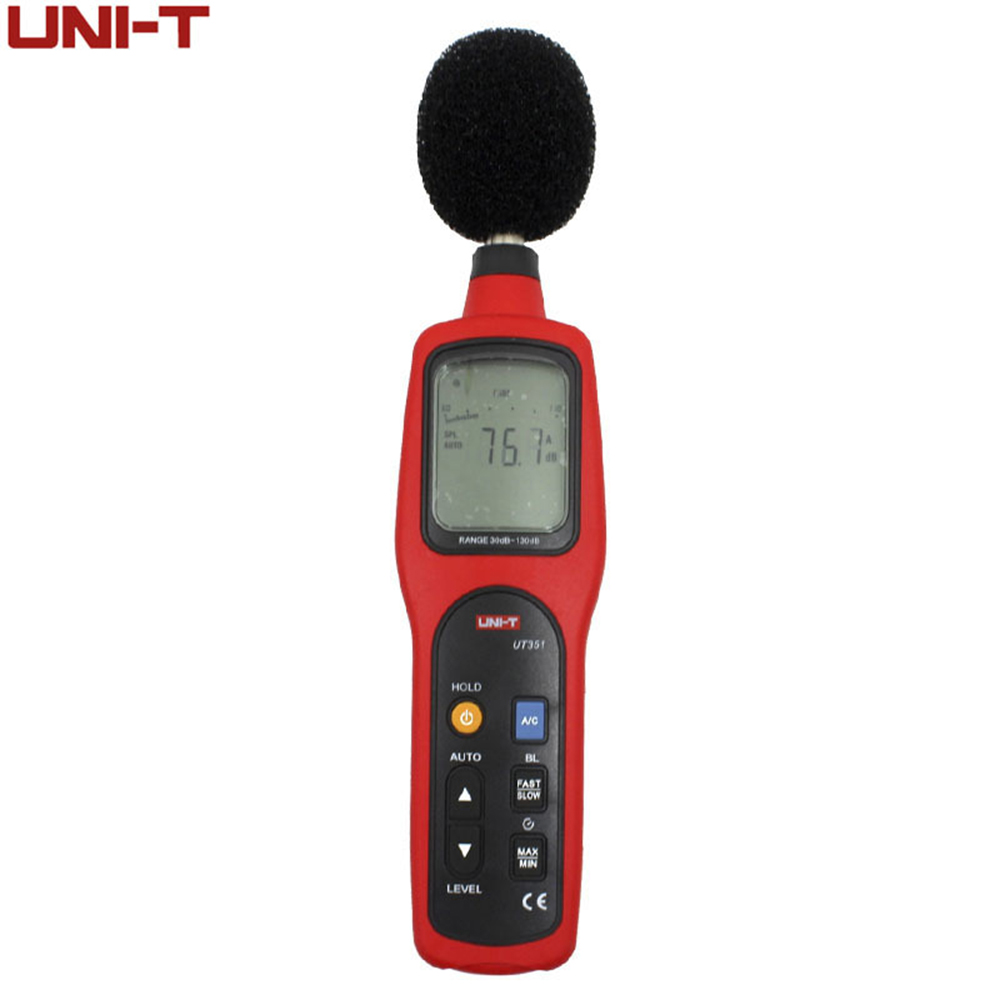 Digital Sound Level Meter dB Decibel Meter Noise Tester Measuring Instruments 30-130dB with LCD Backlight UNI-T UT351 gm1356 digital sound level decibel meter usb noise tester with analysis software automatic backlight