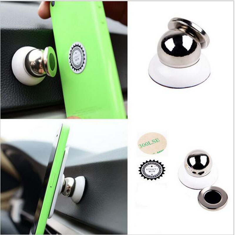 Universal Magnetic 360 degree rotation Ball Car Mount Holder For iphone 7 6 6s Plus SE 5S Samsung S8 S7 Xiaomi GPS Support Stand