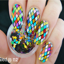 1 Box Nail Glitter Multicolor 2mm Design Tips Decoration Sparkling Diamond Design Nail Art Glitter 8143909