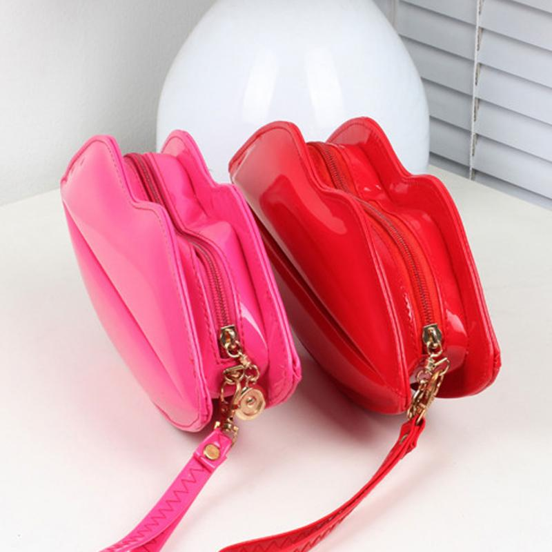 Fashion Handbags Unique Messenger Bags Lip Shaped Handbag Women Shoulder Bag