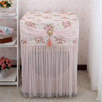 2018 NEW lace Washing Machine Cover Flower Pattern Durable Washing Machine Zipper Dust Covers Wedding Decoration