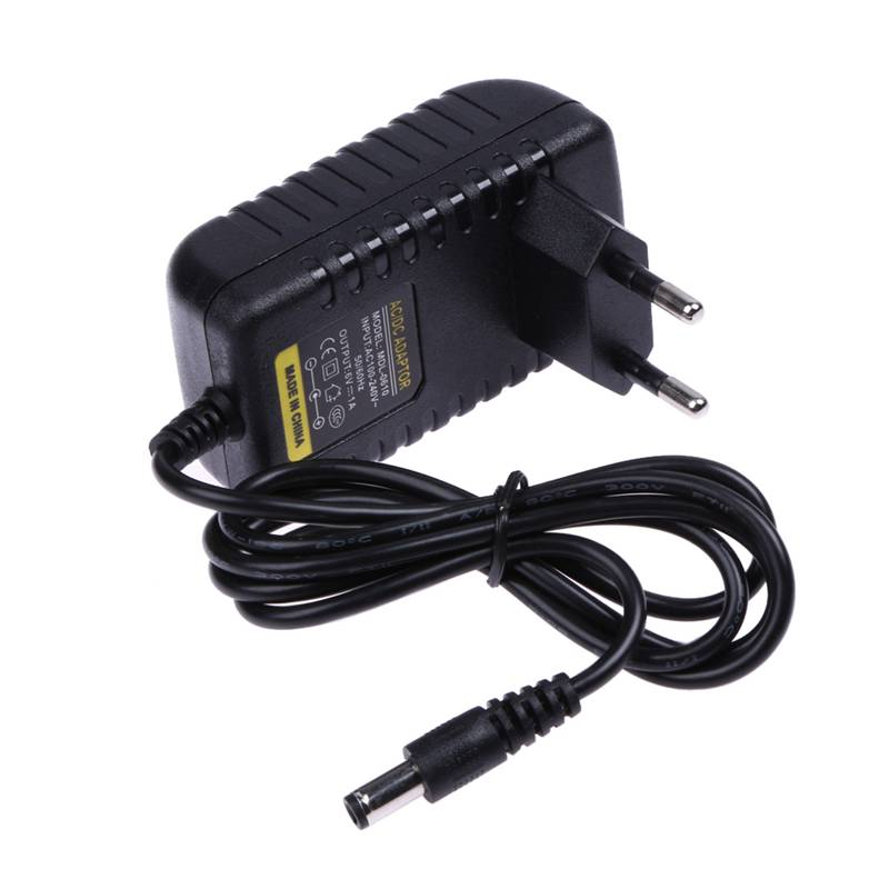цена ALLOET EU Plug AC 100-240V To DC 5.5X2.5MM 6V 1A 1000mA Power Adapter Universal Wall Plug Charger Switching Power Supply Adaptor