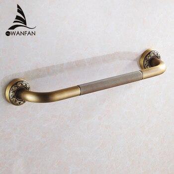 Grab Bars Antique Brass Wall Mounted 52 cm Bathroom Safety Handles Shower Grab Bar Bathtub Handrail Home Assist Bar Grab 3721F фото