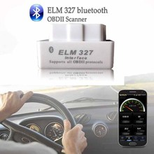 Latest Version Mini ELM327 Auto Scanner ELM 327 Bluetooth OBD2 for Android Torque OBDII Car V2.1 Vehicle Scan Tool LR15