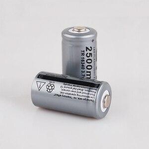 Image 3 - 20 قطعة CR123A 3.7V 2500mah 16340 بطارية ليثيوم أيون قابلة للشحن بطاريات مصباح ليد جيب الشعلة سيارة كهربائية لعبة بطارية