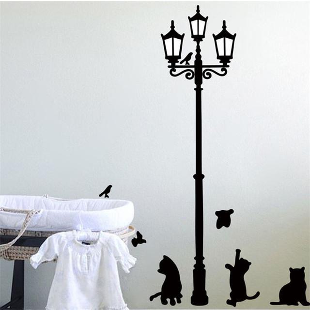 Cat Lamp Wall Sticker