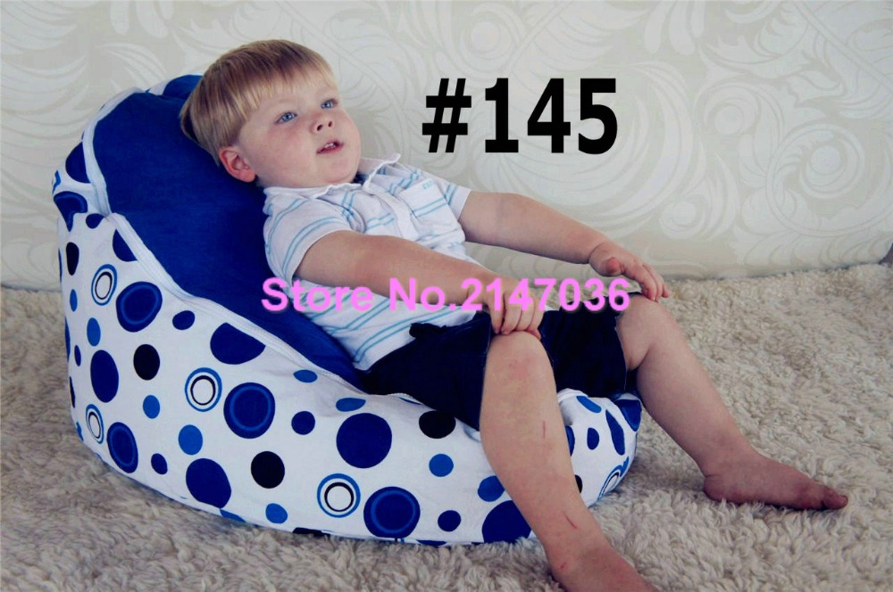 Solid Blue Circle Balls Elder Kids Baby Bean Bag Bed Sofa Chair Bedroom Furniture Set , Portable Children Anywhere Beanbag Chair